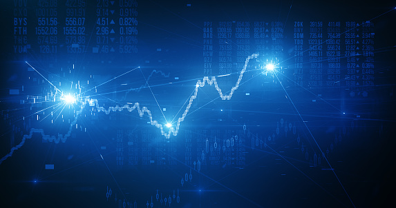 Financial graphs and figures, perfectly usable for all kind of topics related to business, finance and stock exchange.