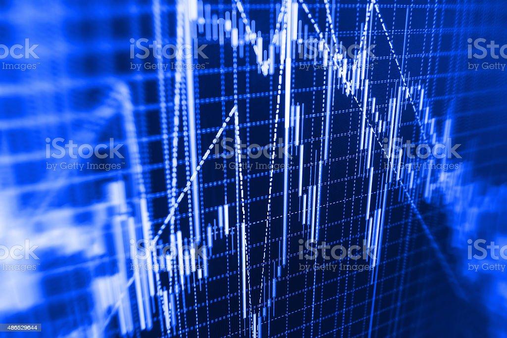 Mercato azionario grafico e bar tabella prezzo display - foto stock