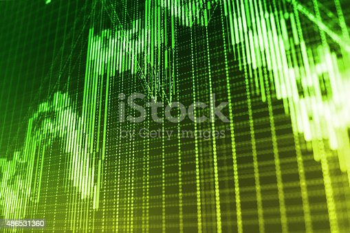 istock Stock market graph and bar chart price display 486531360