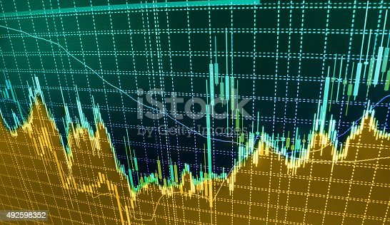 896567272istockphoto Stock market graph and bar chart price display 492598352