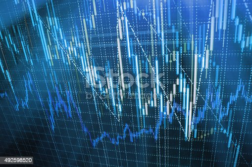 896567272istockphoto Stock market graph and bar chart price display 492598520