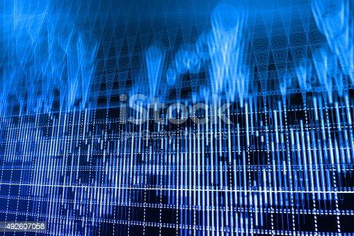 istock Stock market graph and bar chart price display 492607058