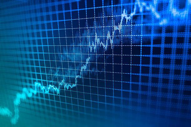 stock market und bar graph diagramm preis anzeigen - inflation stock-fotos und bilder