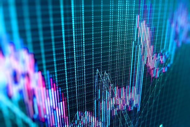 Stock market und bar graph Diagramm Preis anzeigen – Foto