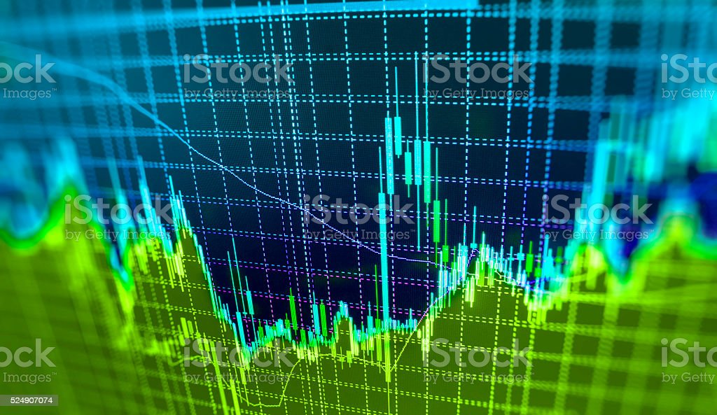 Stock market graph and bar chart price display​​​ foto