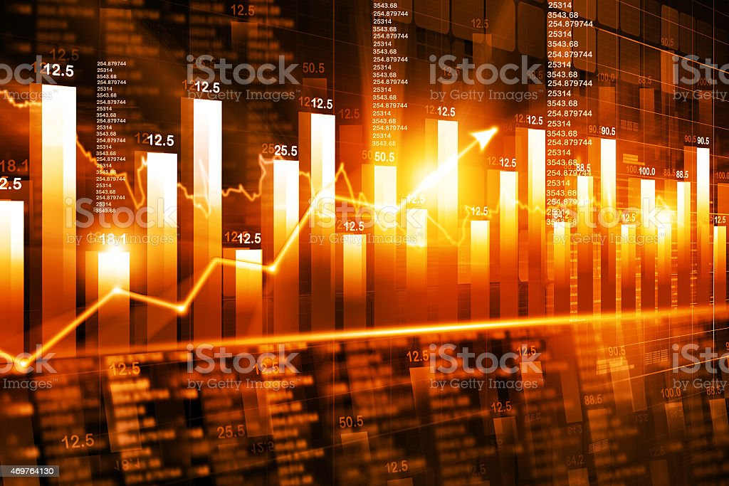 stock market graph and chart analysis stock photo