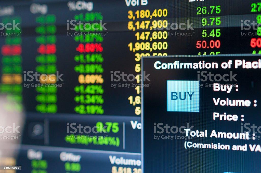 Gráfico del mercado de valores y técnicas análisis de stock foto de stock libre de derechos