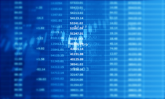 istock Stock market graph background 1194625401