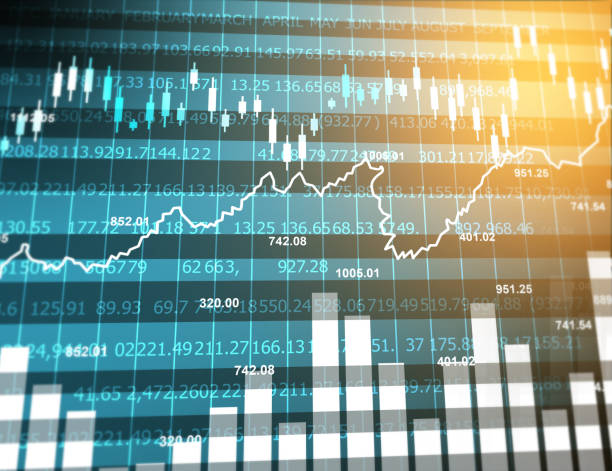 Stock market graph Stock market graph. Abstract finance background. Digital illustration stock market data stock pictures, royalty-free photos & images