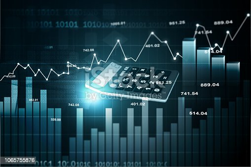 istock Stock market graph 1065755876