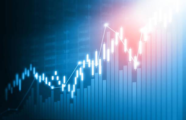 stock market graph - diagramma a colonne foto e immagini stock