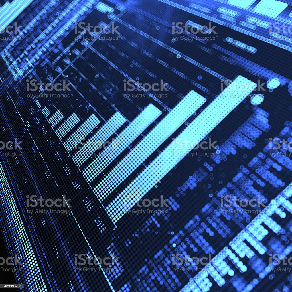 Stock Market Graph royalty-free stock photo