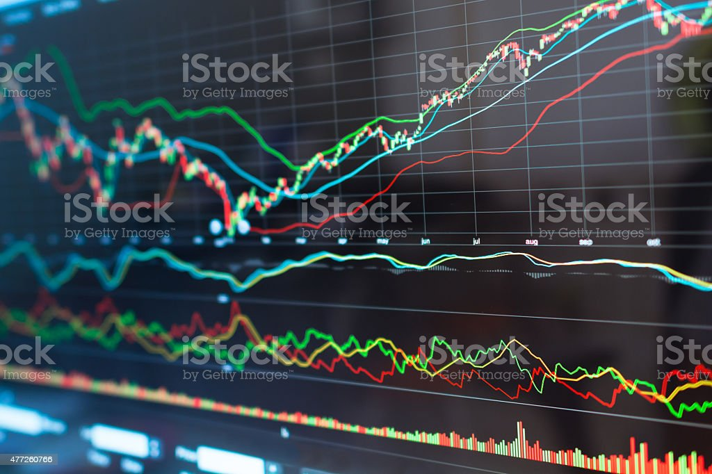 Stock market graph. stock photo