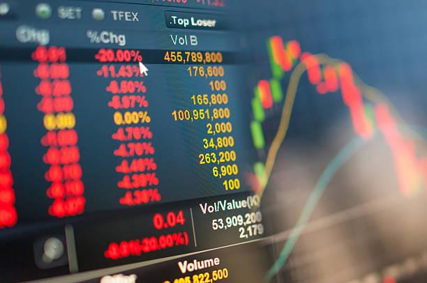 stock market grafik - börsencrash stock-fotos und bilder