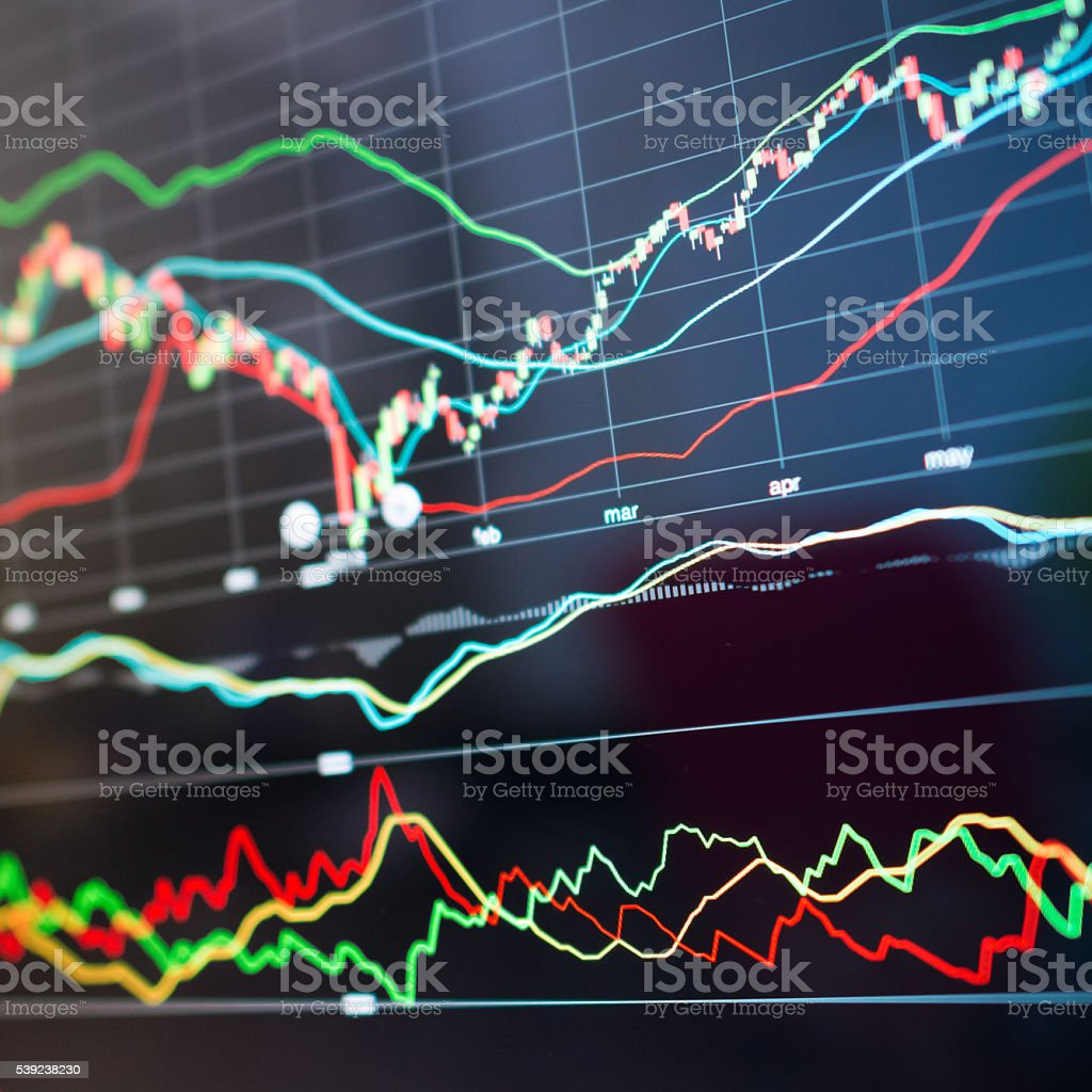 Stock market graph. royalty-free stock photo
