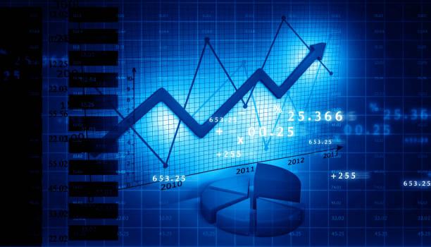börse-diagramm - inflation stock-fotos und bilder