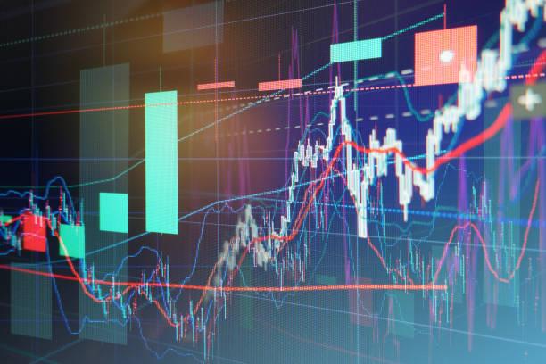株式市場グラフ ストックフォト