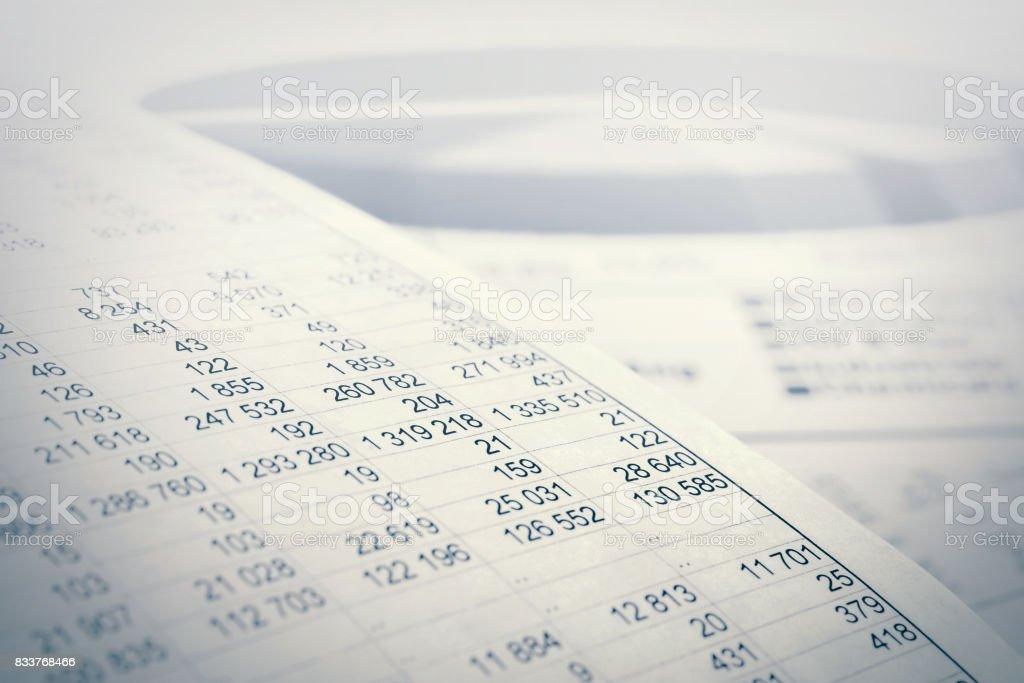 Stock market graphs and charts analysis stock photo