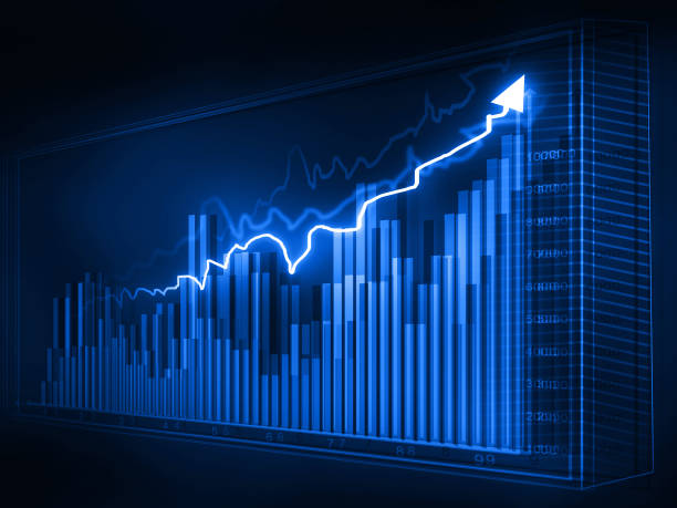 ビジネス グラフ、株価グラフ - 柱頭 ストックフォトと画像