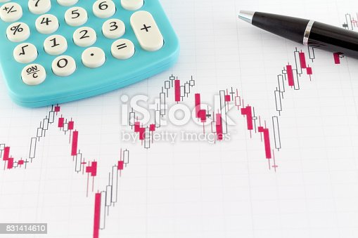 istock Stock Market Graphs Candles Bull and Bear Market 831414610
