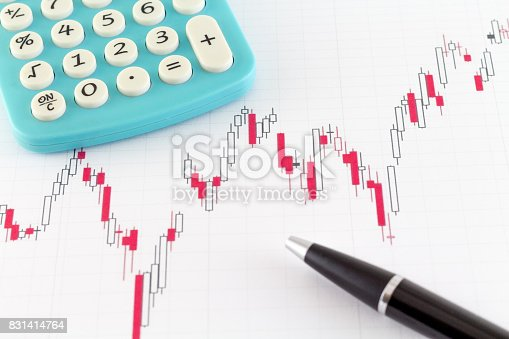 istock Stock Market Graphs Candles Bull and Bear Market 831414764