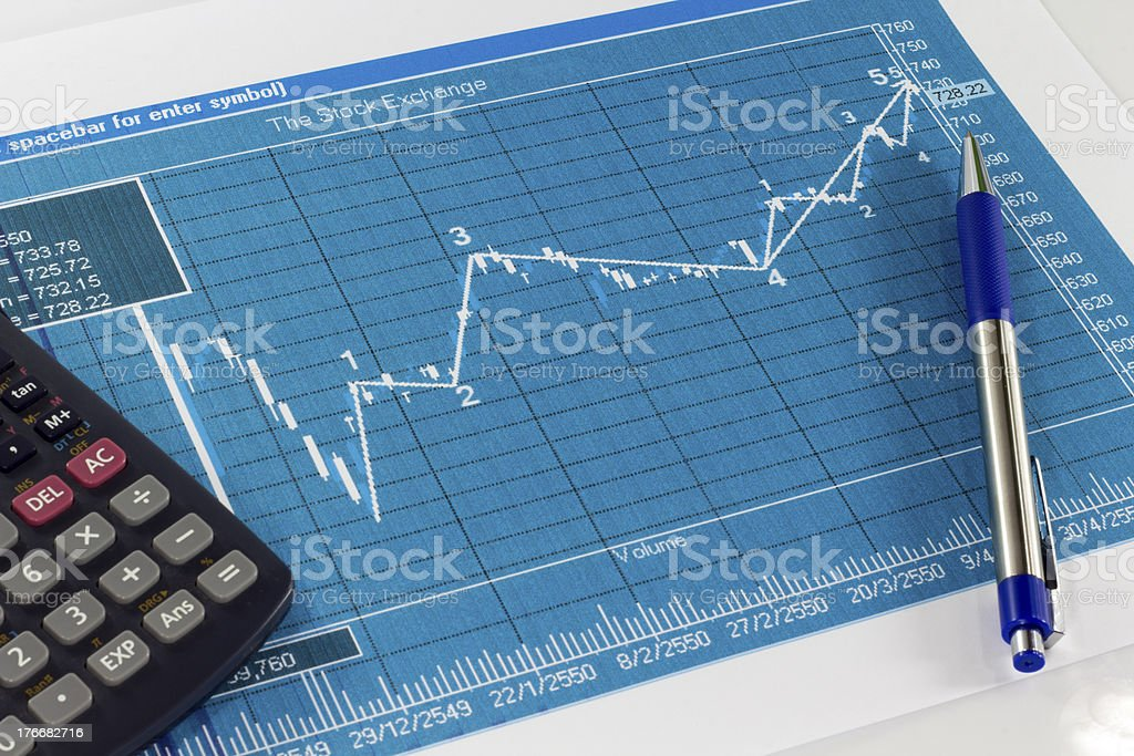 Stock market graphs royalty-free stock photo