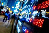 Stock Market Growth On Screen