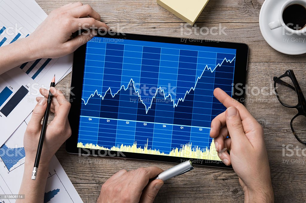 Stock market growth stock photo