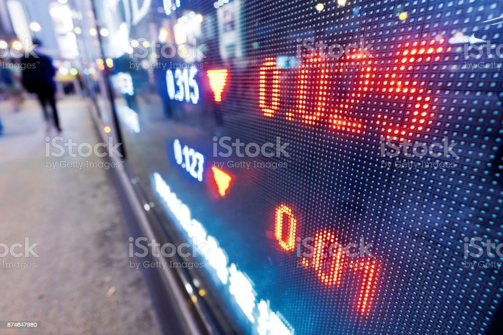 Stock market in the city stock photo
