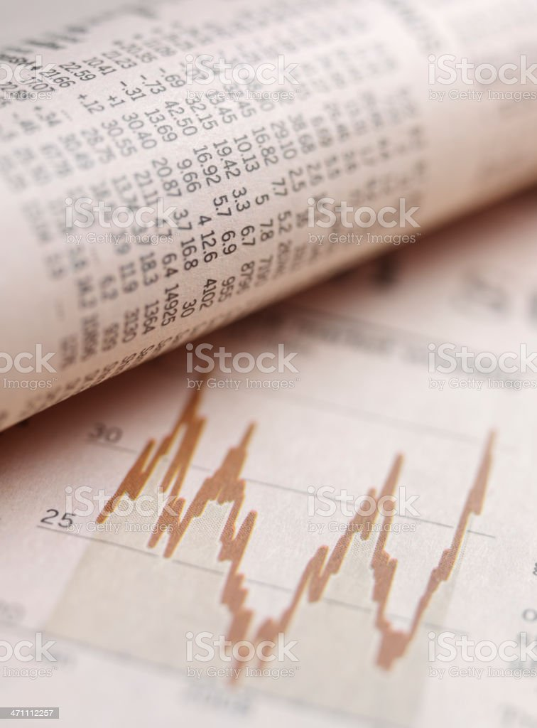 Stock Market in the Paper stock photo
