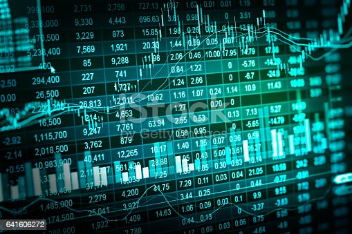 641610568 istock photo Stock market indicator and financial data view from LED. Double 641606272