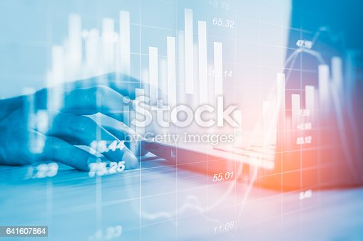 641610568 istock photo Stock market indicator and financial data view from LED. Double 641607864