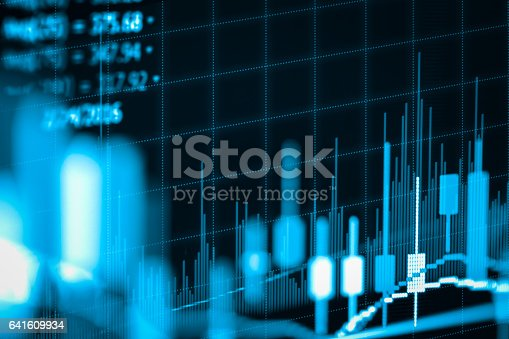 641610568 istock photo Stock market indicator and financial data view from LED. Double 641609934