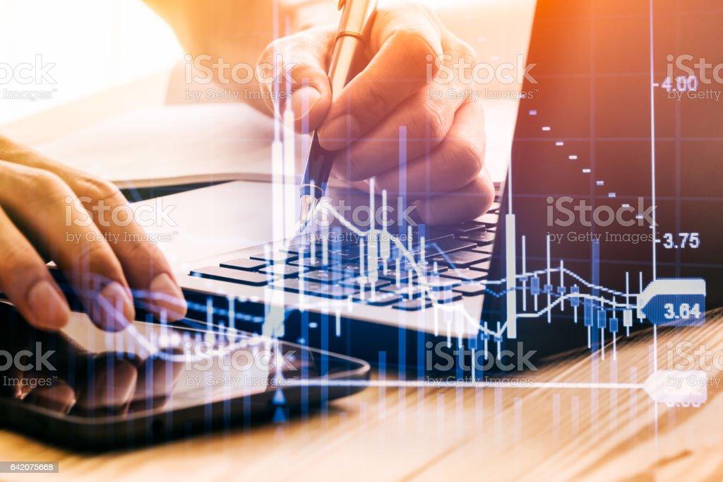 Börse-Indikator und Finanzdaten aus LED Anzeigen Doppel – Foto
