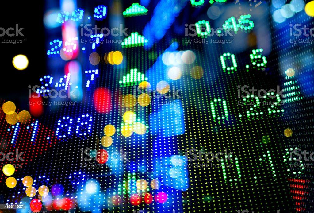 Stock market numbers stock photo