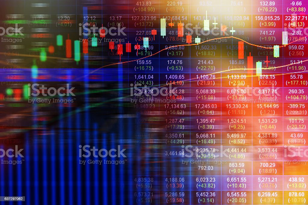 Stock market on display stock photo