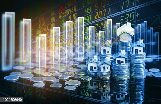 istock Stock market or forex trading graph and candlestick chart suitable for financial investment concept. 1004706640