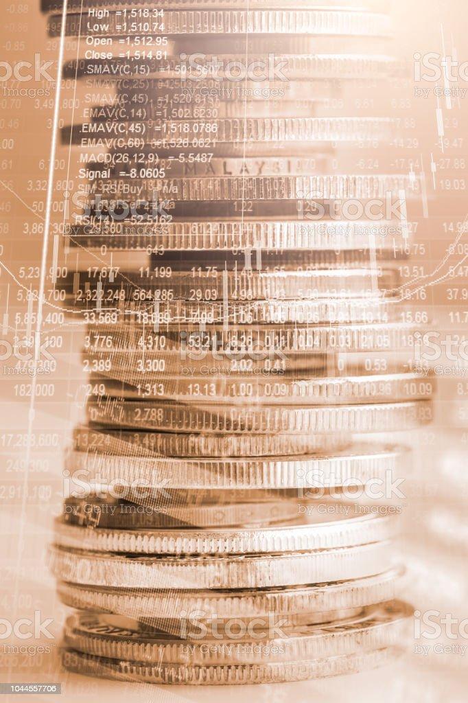 Börse oder Forex trading Graph und Candlestick-Chart geeignet für finanzielle Anlagekonzept. Wirtschaft Trends Hintergrund für Geschäftsidee und alle Kunst Arbeitsgestaltung. Abstrakte Finanzen Hintergrund. – Foto