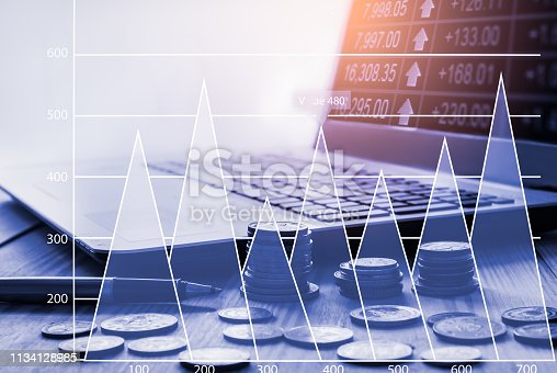1090482098istockphoto Stock market or forex trading graph and candlestick chart suitable for financial investment concept. Economy trends background for business idea and all art work design. Abstract finance background. 1134128985