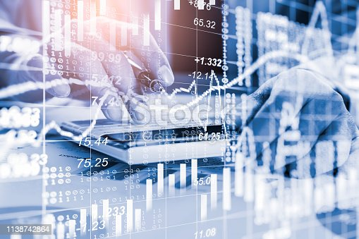 1140473216istockphoto Stock market or forex trading graph and candlestick chart suitable for financial investment concept. Economy trends background for business idea and all art work design. Abstract finance background. 1138742864