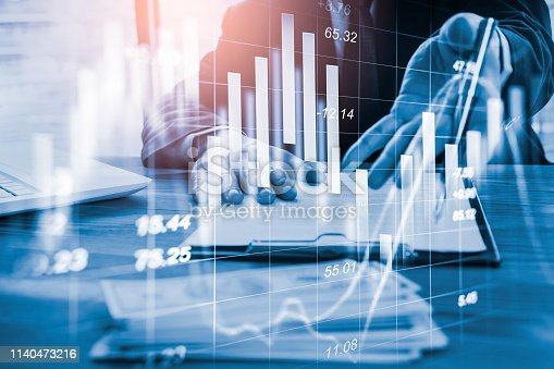 1140473216istockphoto Stock market or forex trading graph and candlestick chart suitable for financial investment concept. Economy trends background for business idea and all art work design. Abstract finance background. 1140473216