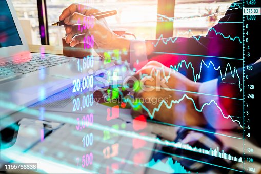 1140473216istockphoto Stock market or forex trading graph and candlestick chart suitable for financial investment concept. Economy trends background for business idea and all art work design. Abstract finance background. 1155766636