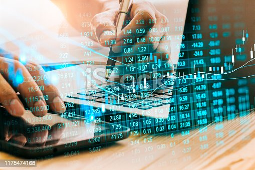 1090482098istockphoto Stock market or forex trading graph and candlestick chart suitable for financial investment concept. Economy trends background for business idea and all art work design. Abstract finance background. 1175474168