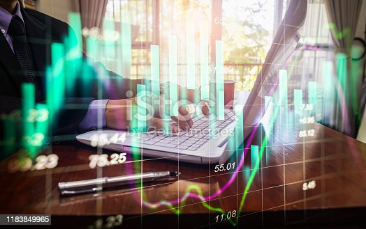1140473216istockphoto Stock market or forex trading graph and candlestick chart suitable for financial investment concept. Economy trends background for business idea and all art work design. Abstract finance background. 1183849965