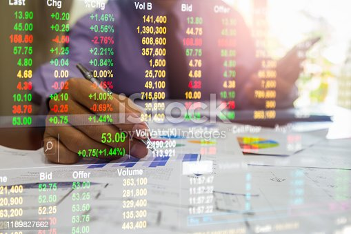 1140473216istockphoto Stock market or forex trading graph and candlestick chart suitable for financial investment concept. Economy trends background for business idea and all art work design. Abstract finance background. 1189827662