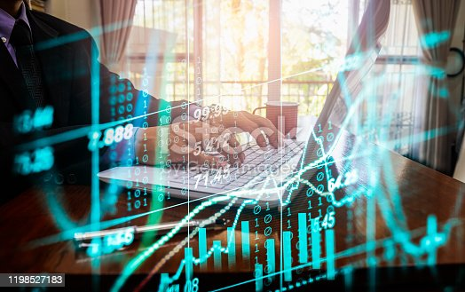 1140473216istockphoto Stock market or forex trading graph and candlestick chart suitable for financial investment concept. Economy trends background for business idea and all art work design. Abstract finance background. 1198527183