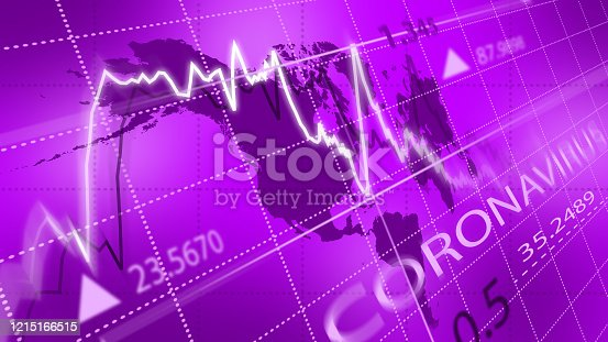 istock Stock market or forex trading graph. Chart in financial market. 1215166515