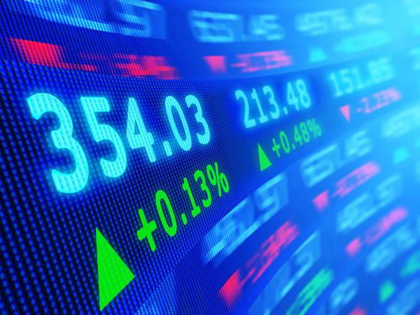stock market - kurstafel stock-fotos und bilder