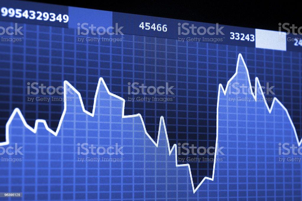 stock market - Royalty-free Blue Stock Photo