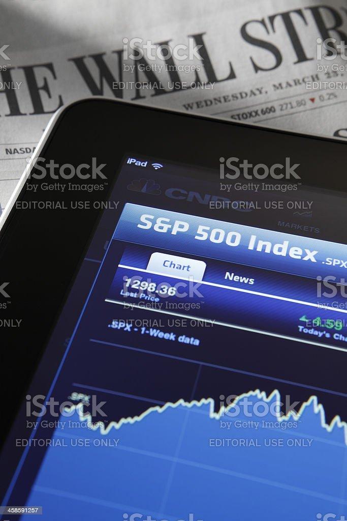 Stock Market Quotes royalty-free stock photo